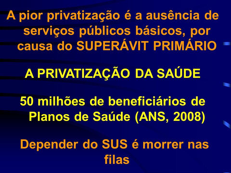 A PRIVATIZAÇÃO DA SAÚDE