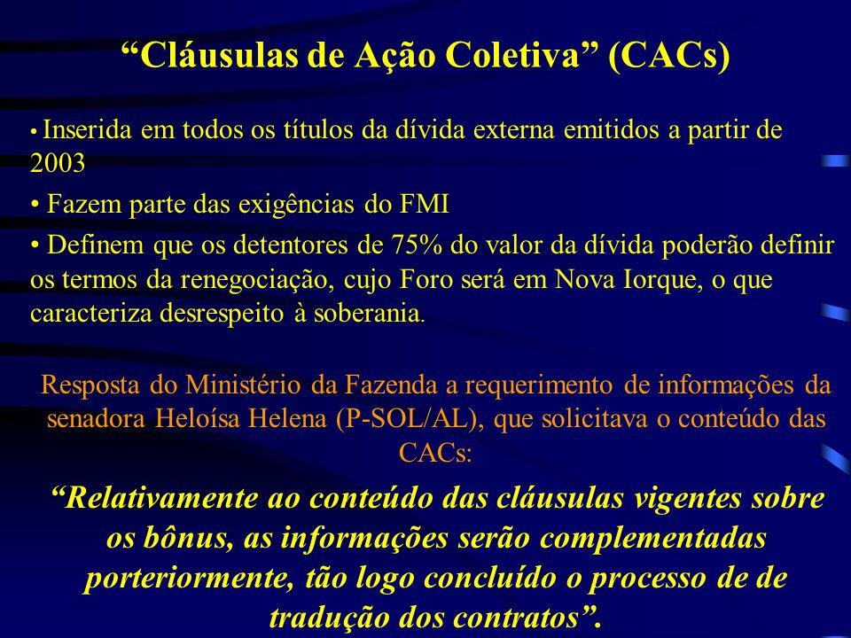 Cláusulas de Ação Coletiva (CACs)