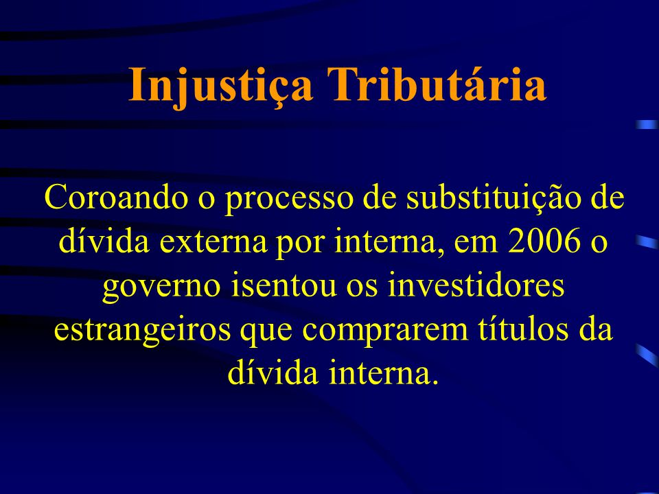 Injustiça Tributária