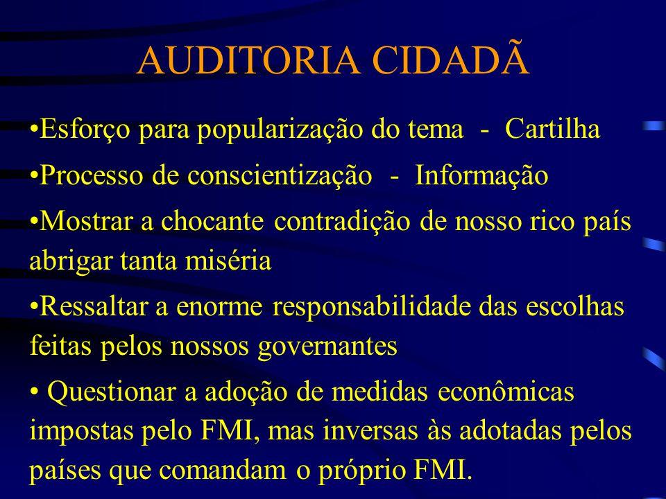 AUDITORIA CIDADÃ Esforço para popularização do tema - Cartilha