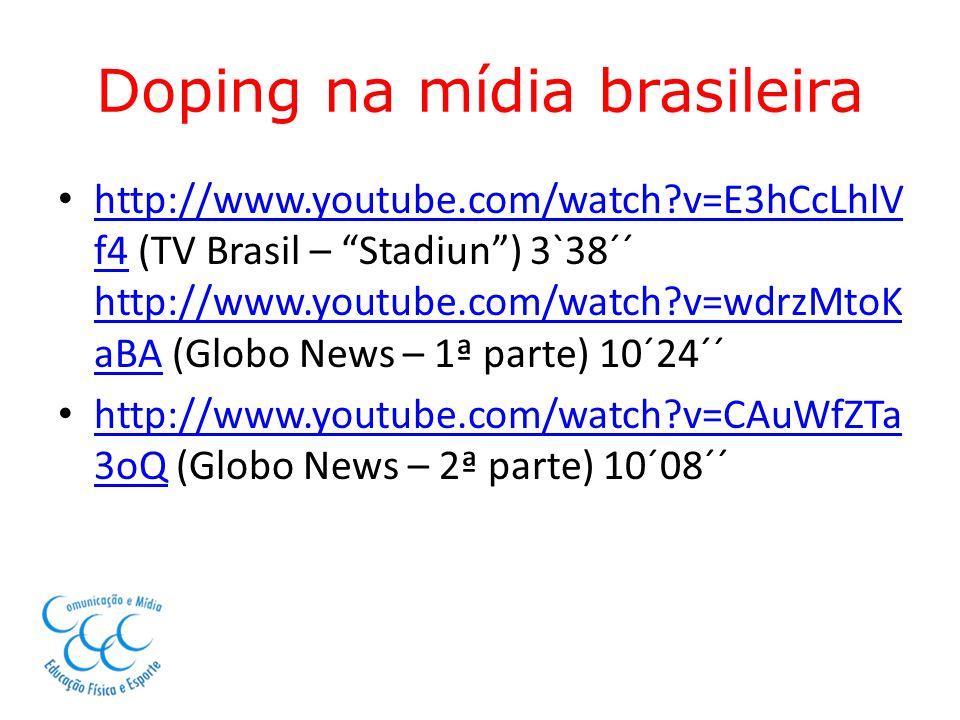 Doping na mídia brasileira