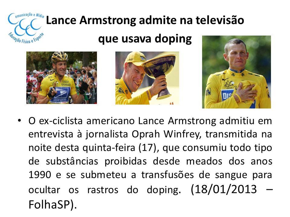 Lance Armstrong admite na televisão