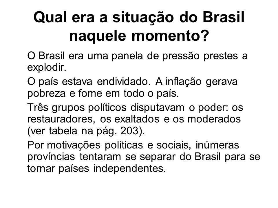 Qual era a situação do Brasil naquele momento