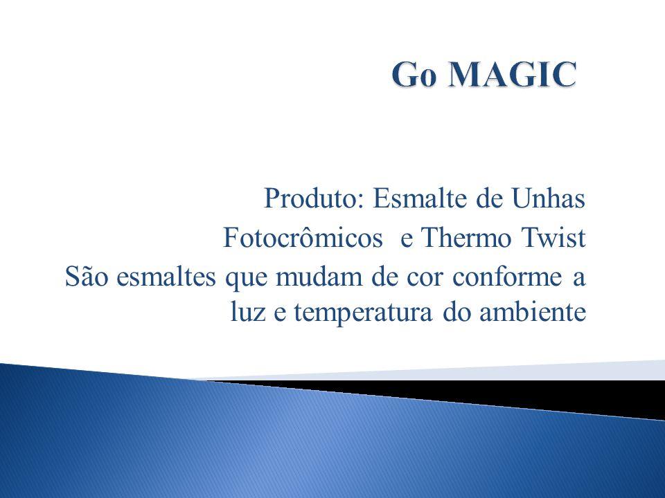 Go MAGIC Produto: Esmalte de Unhas Fotocrômicos e Thermo Twist