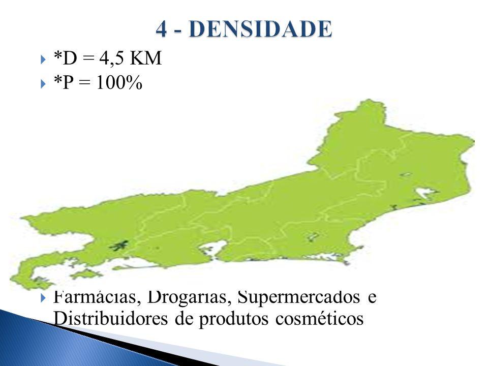 4 - DENSIDADE *D = 4,5 KM.