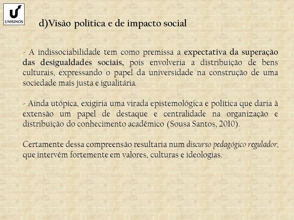 d)Visão política e de impacto social