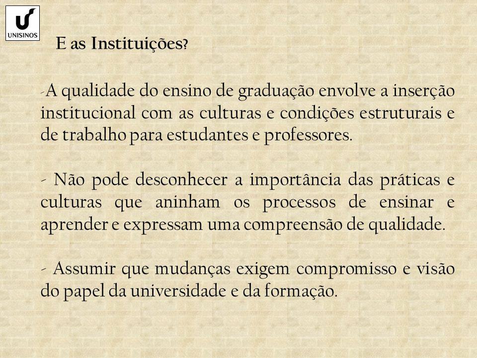 E as Instituições