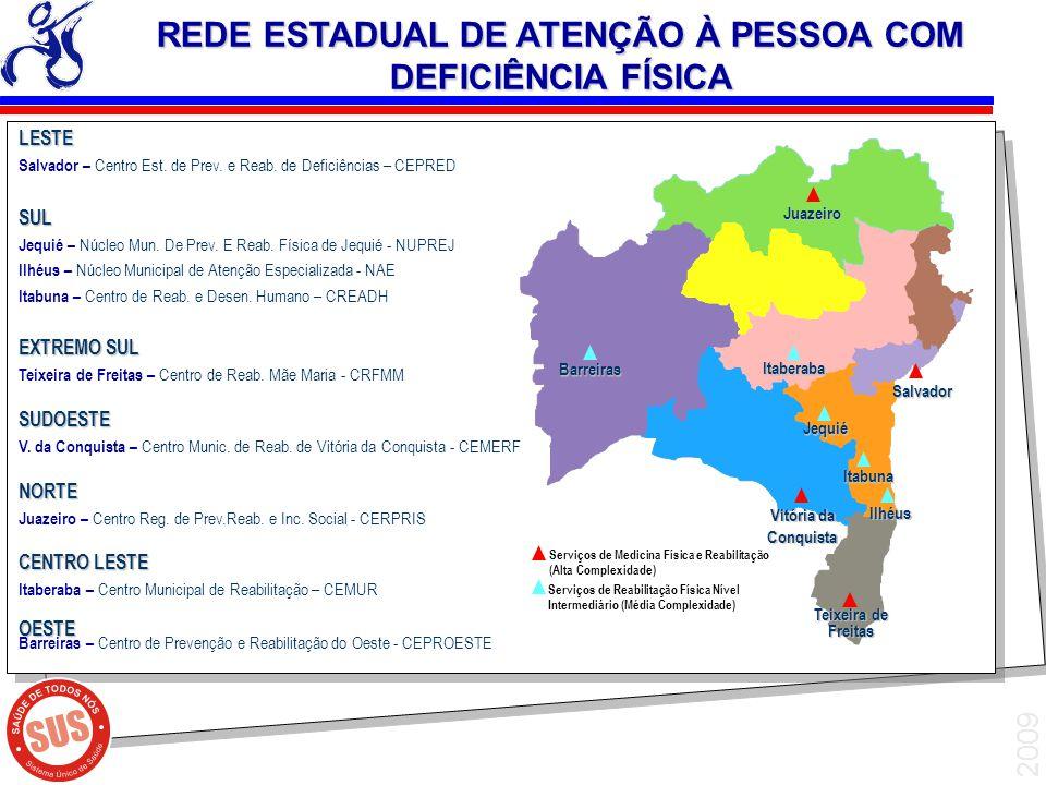 REDE ESTADUAL DE ATENÇÃO À PESSOA COM DEFICIÊNCIA FÍSICA