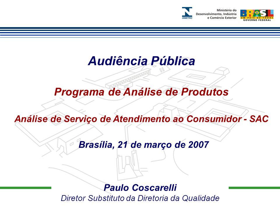 Audiência Pública Programa de Análise de Produtos