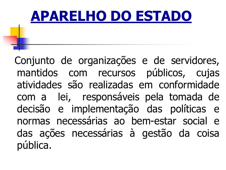 APARELHO DO ESTADO