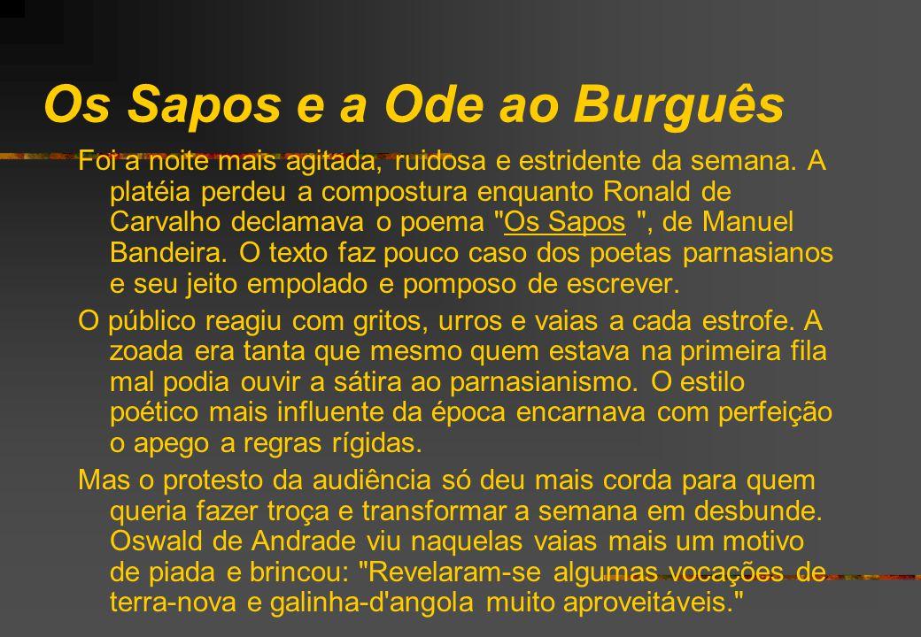 Os Sapos e a Ode ao Burguês