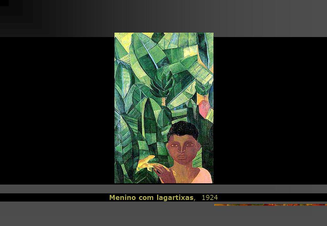 Menino com lagartixas, 1924