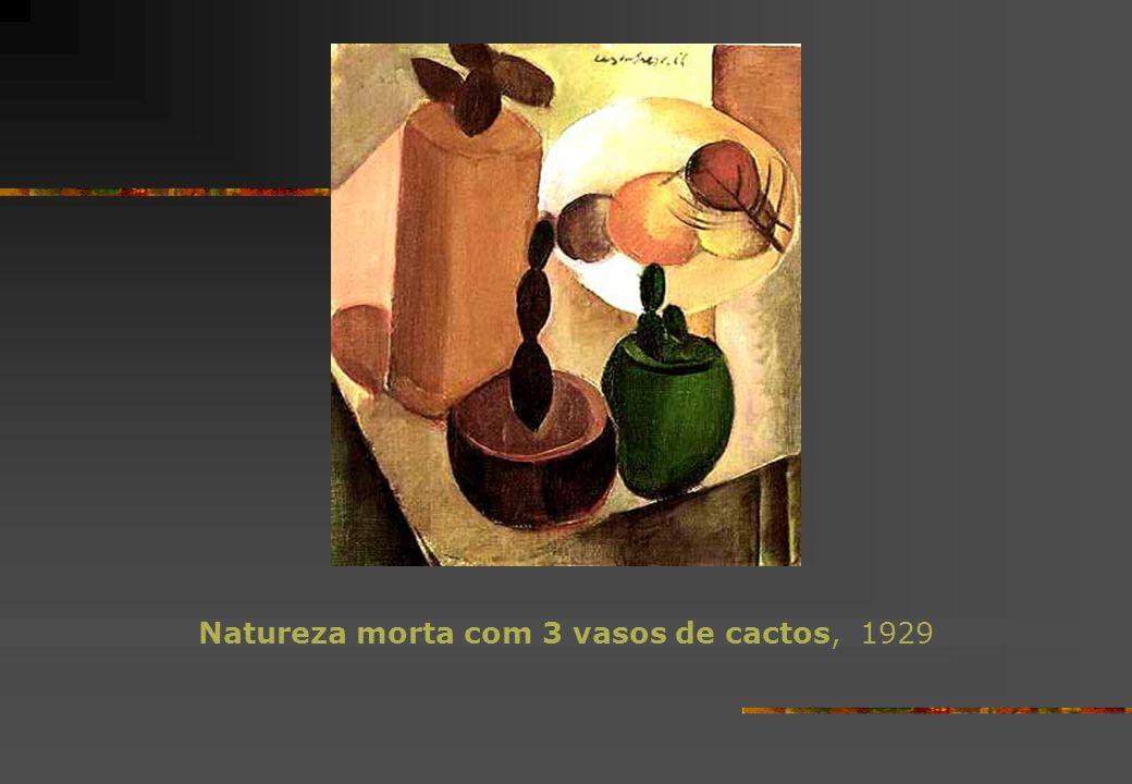 Natureza morta com 3 vasos de cactos, 1929