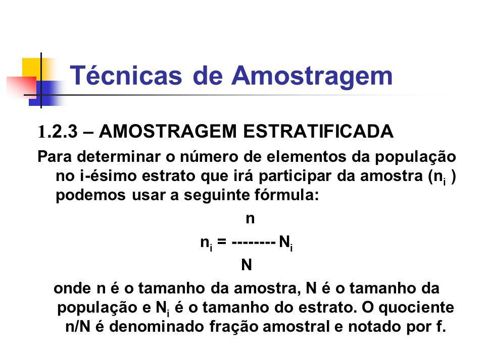 Técnicas de Amostragem