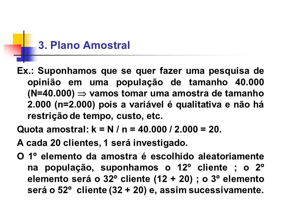 3. Plano Amostral