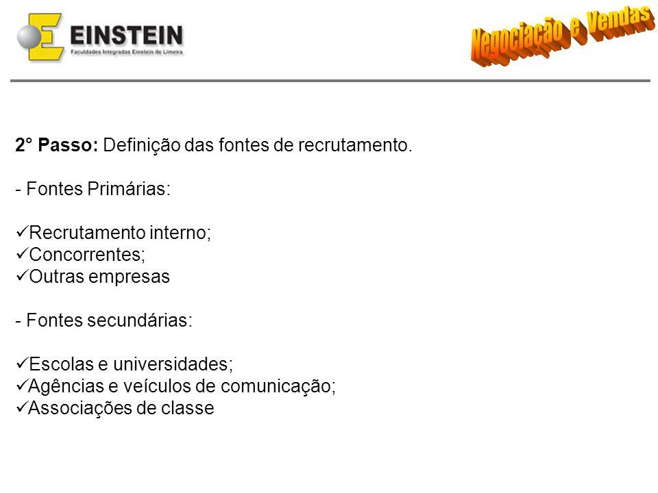 2° Passo: Definição das fontes de recrutamento.