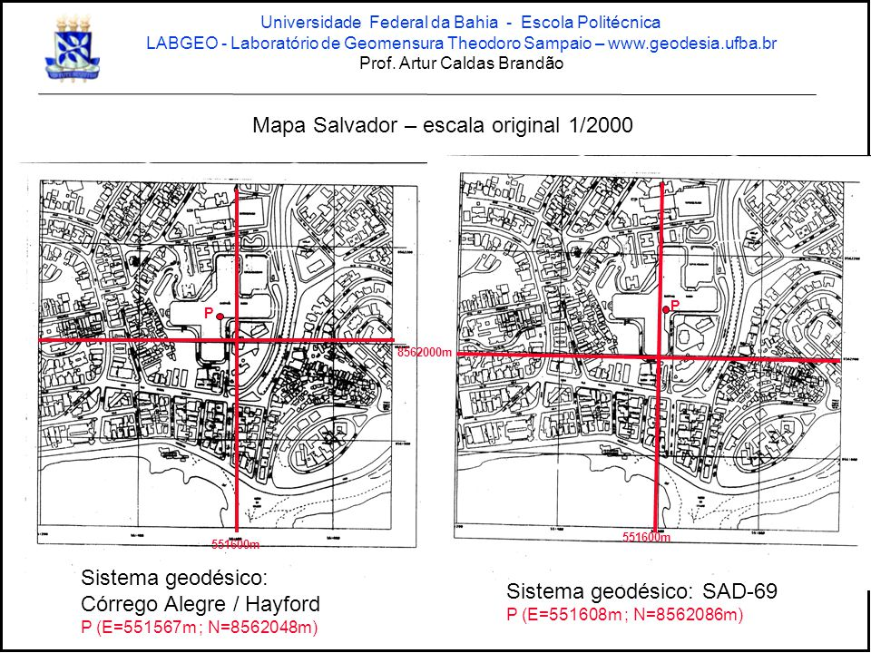 Mapa Salvador – escala original 1/2000