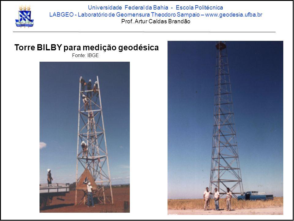 Torre BILBY para medição geodésica
