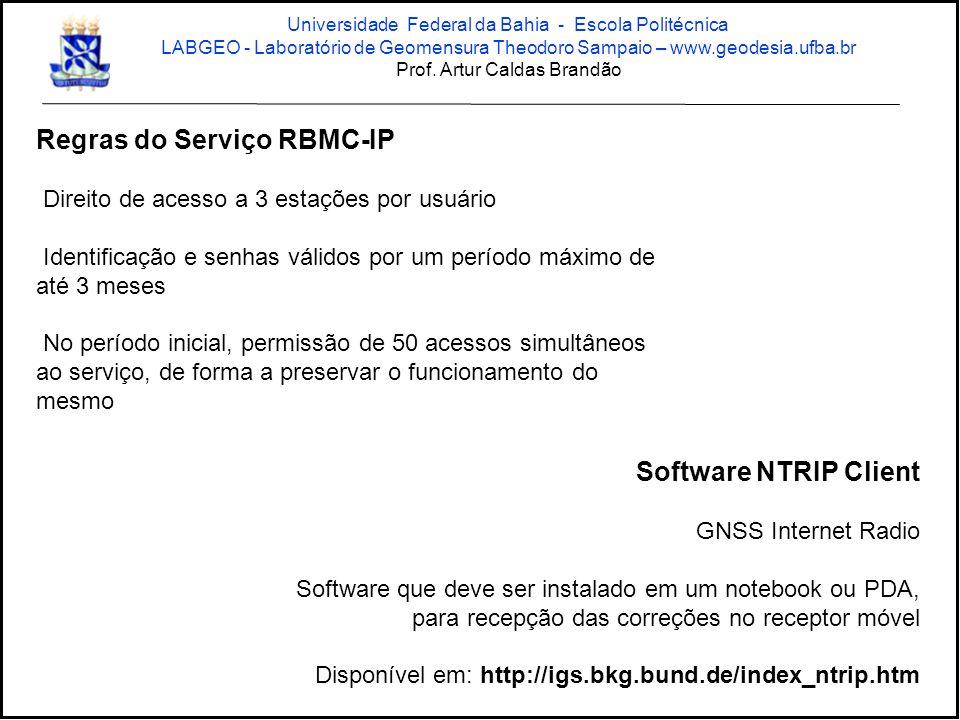 Regras do Serviço RBMC-IP