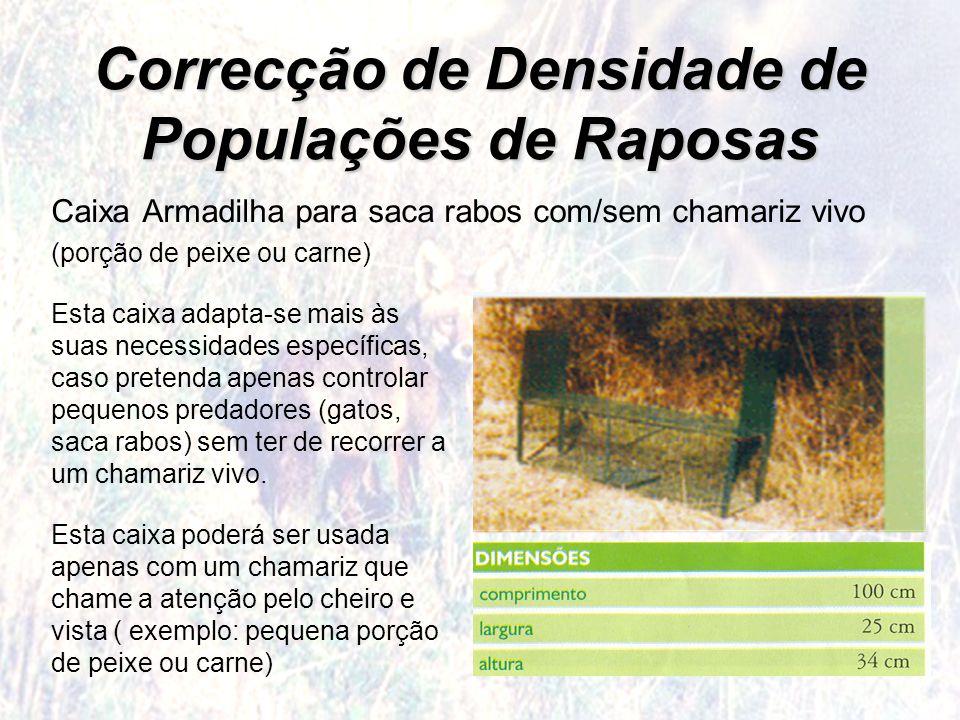 Correcção de Densidade de Populações de Raposas