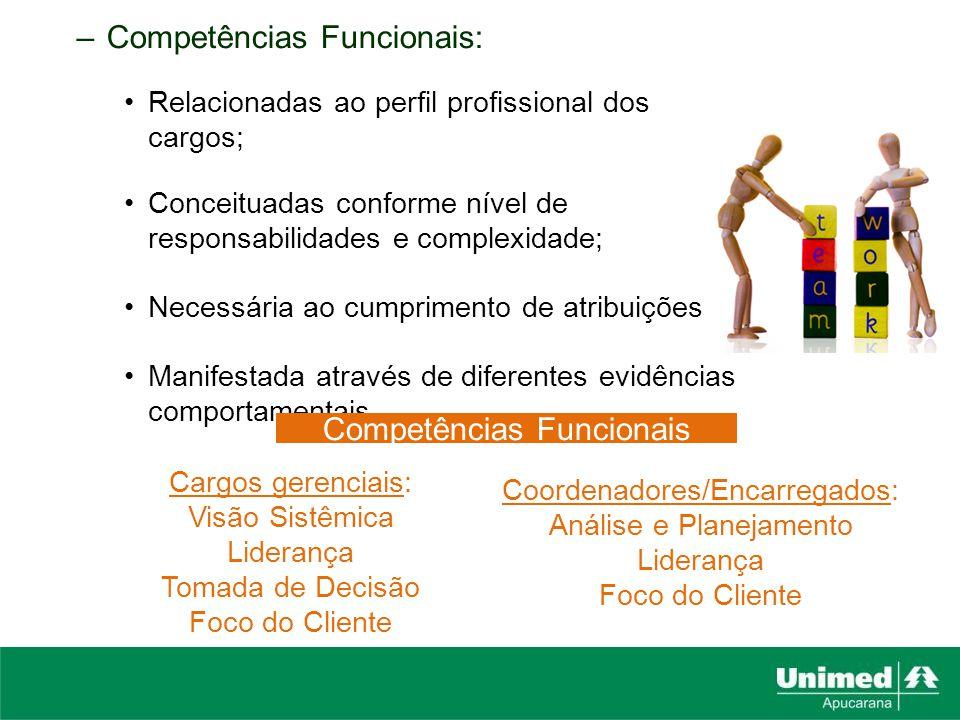 Competências Funcionais: