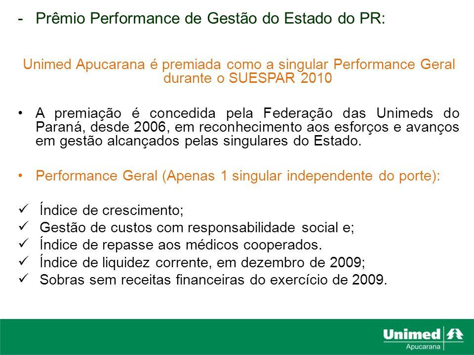 Prêmio Performance de Gestão do Estado do PR: