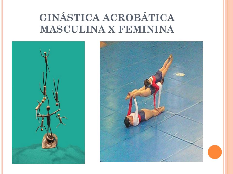 GINÁSTICA ACROBÁTICA MASCULINA X FEMININA