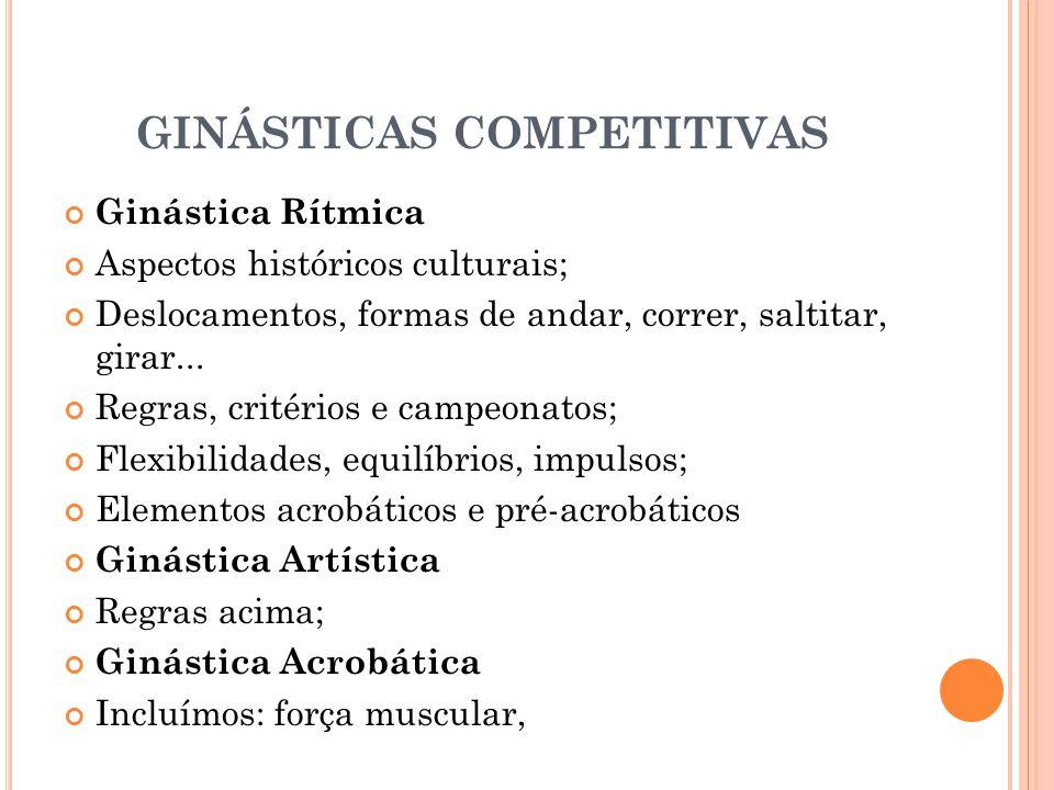 GINÁSTICAS COMPETITIVAS
