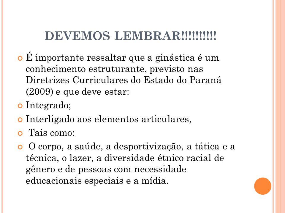 DEVEMOS LEMBRAR!!!!!!!!!!