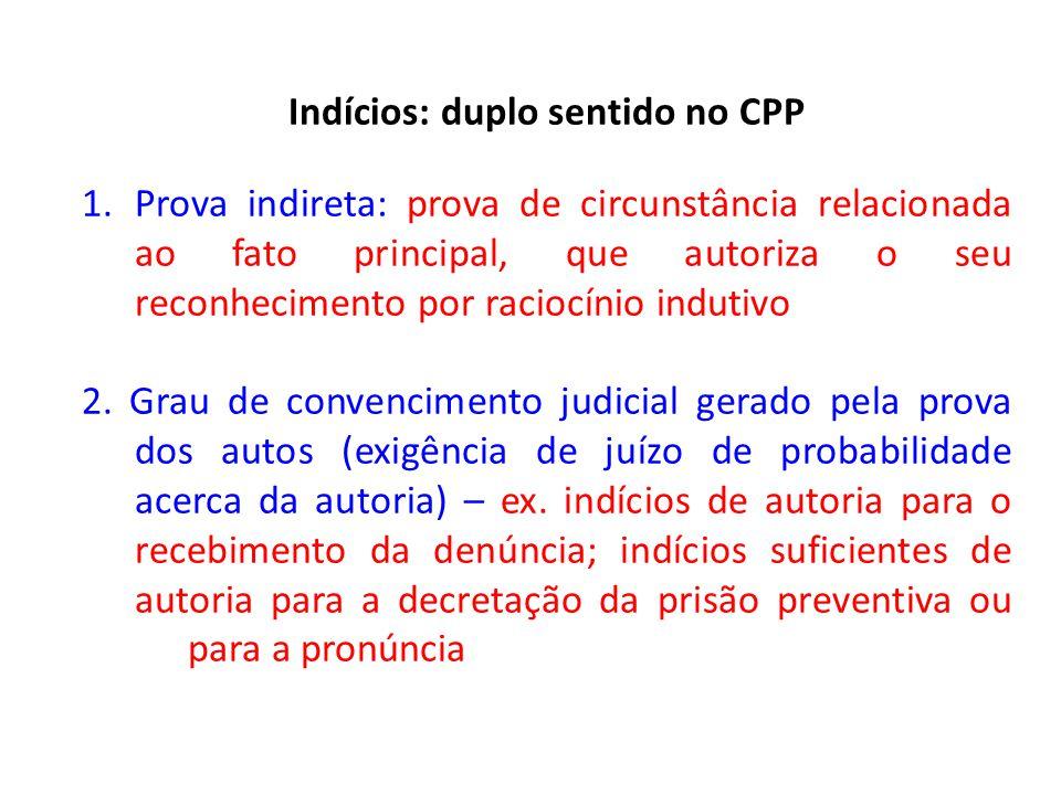 Indícios: duplo sentido no CPP