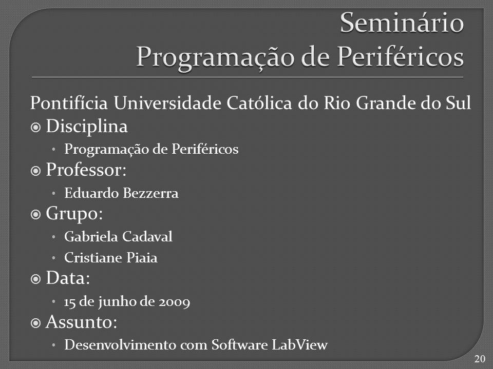 Seminário Programação de Periféricos