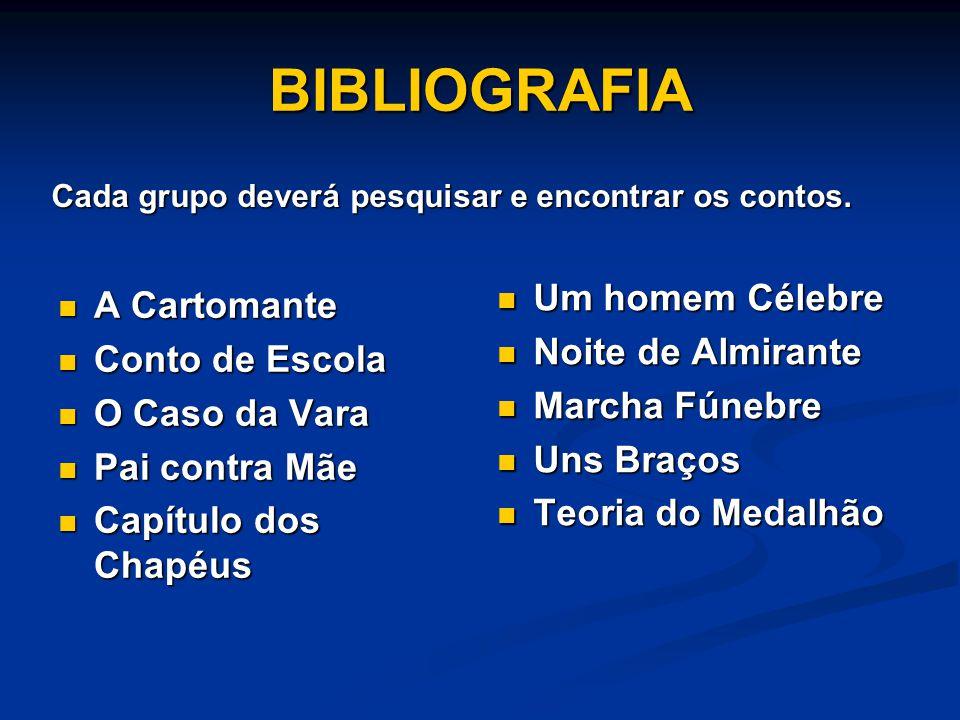 BIBLIOGRAFIA Um homem Célebre A Cartomante Noite de Almirante