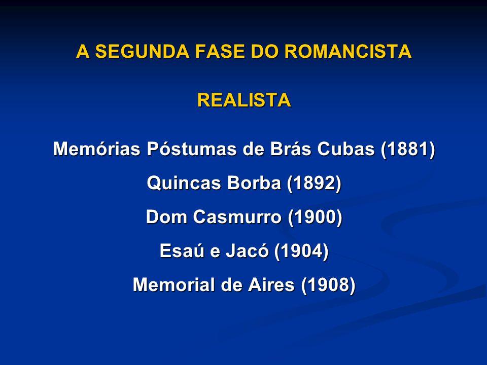 A SEGUNDA FASE DO ROMANCISTA Memórias Póstumas de Brás Cubas (1881)