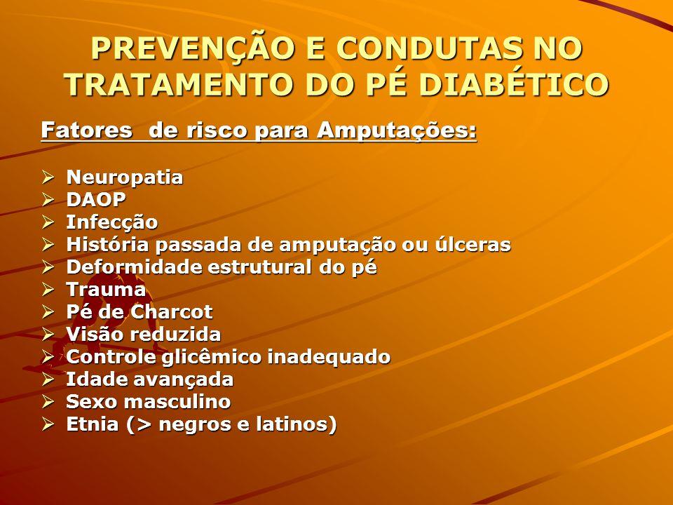 PREVENÇÃO E CONDUTAS NO TRATAMENTO DO PÉ DIABÉTICO