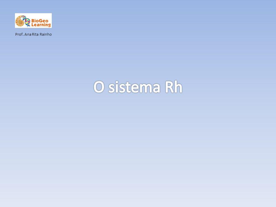 Prof. Ana Rita Rainho O sistema Rh