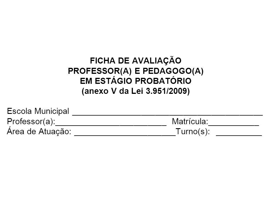 PROFESSOR(A) E PEDAGOGO(A)