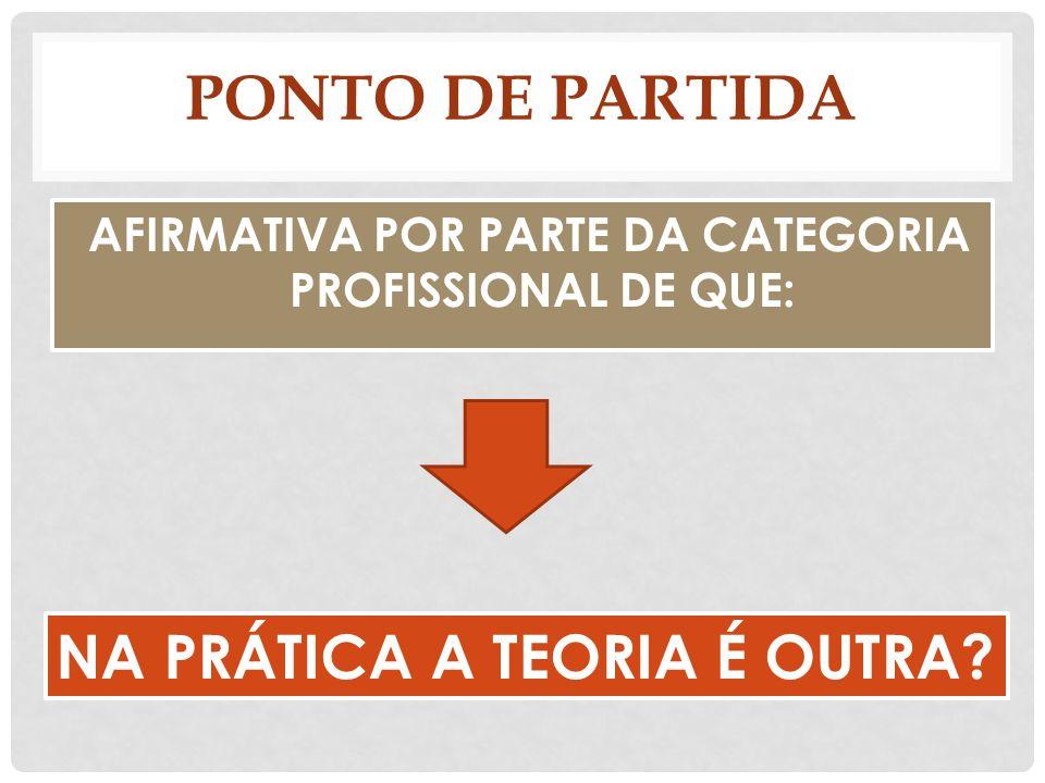 AFIRMATIVA POR PARTE DA CATEGORIA PROFISSIONAL DE QUE:
