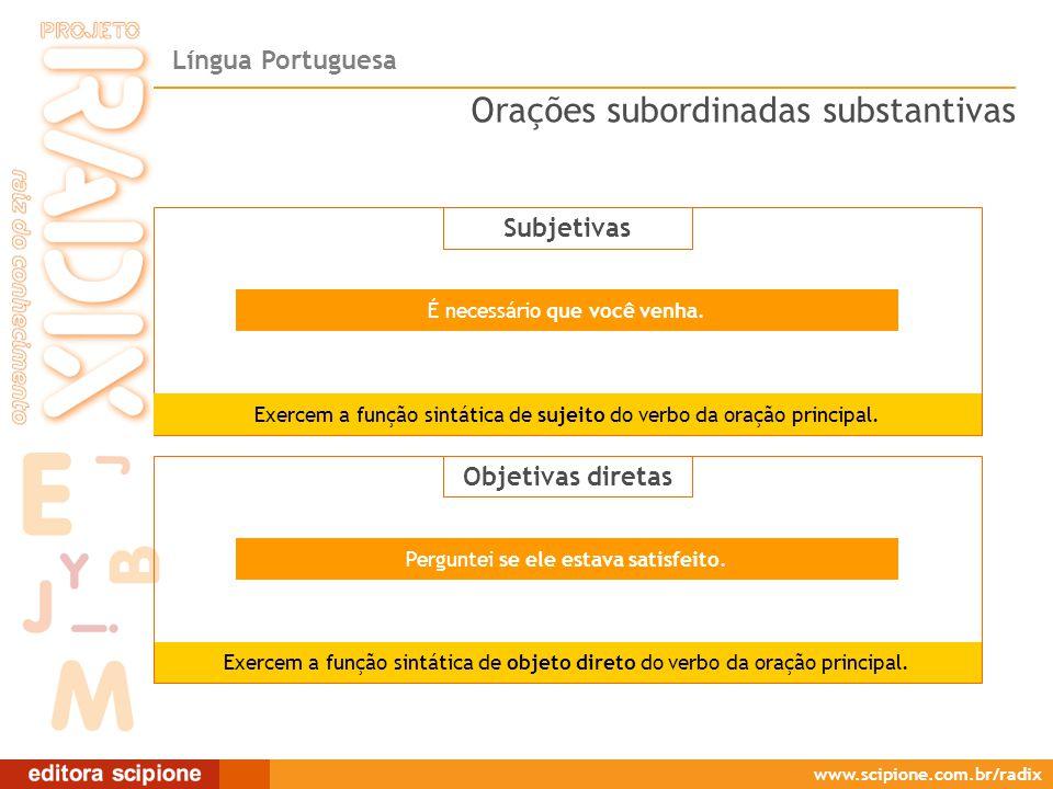 Subjetivas/Objetivas diretas