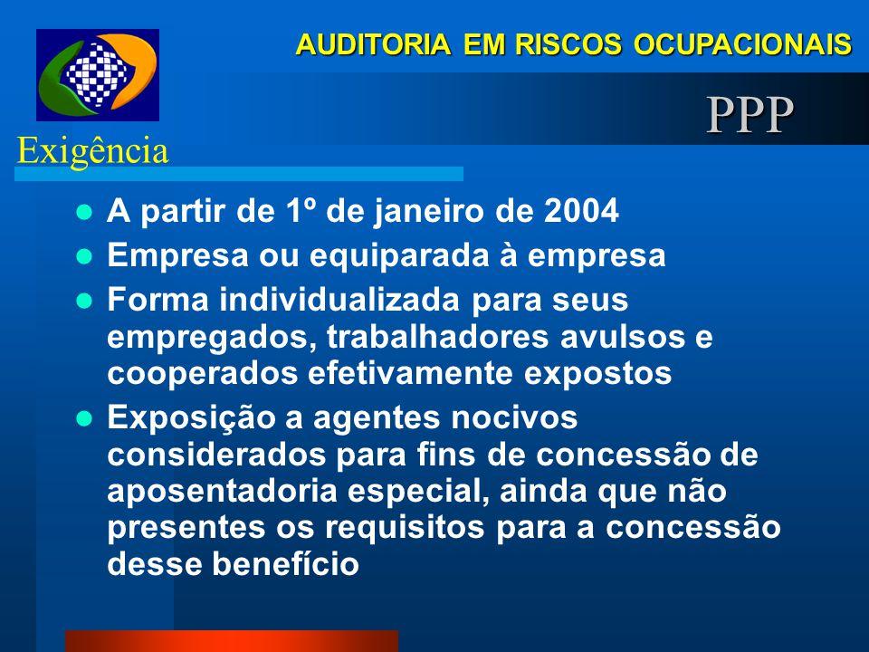 PPP Exigência A partir de 1º de janeiro de 2004