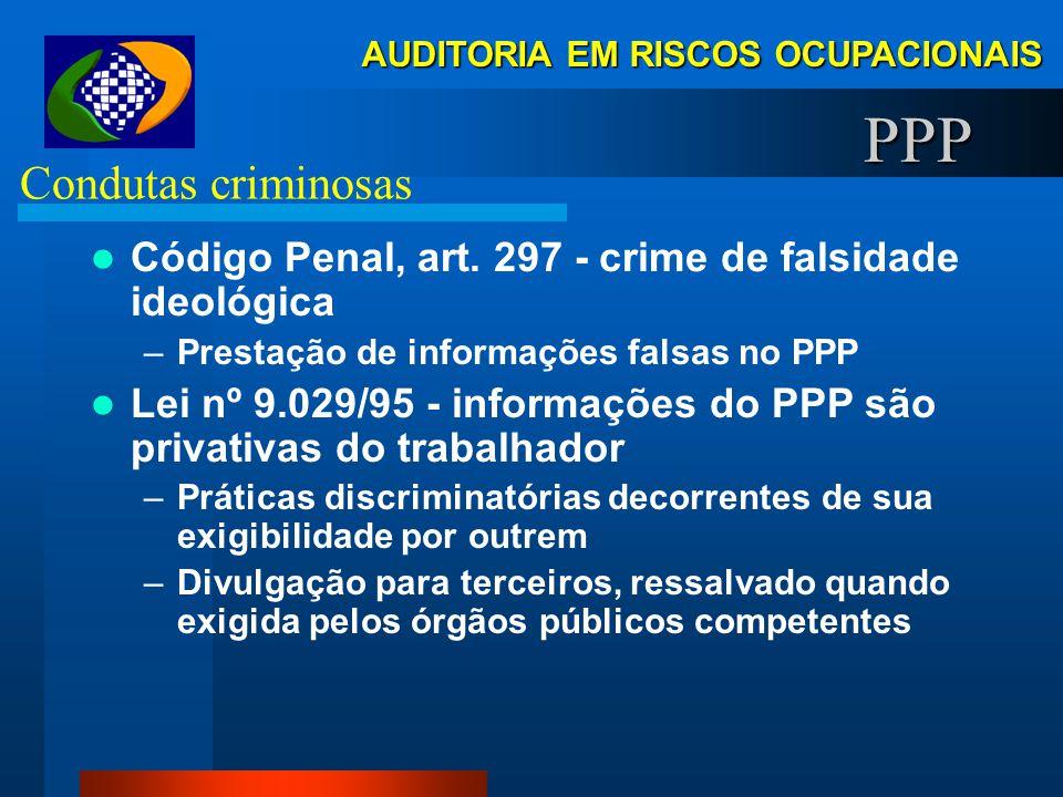 PPP Condutas criminosas