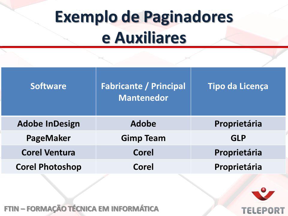 Exemplo de Paginadores e Auxiliares