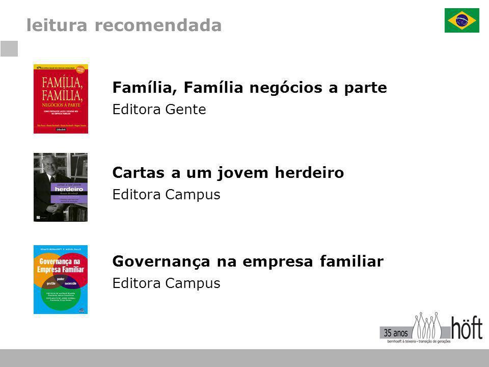 leitura recomendada Família, Família negócios a parte