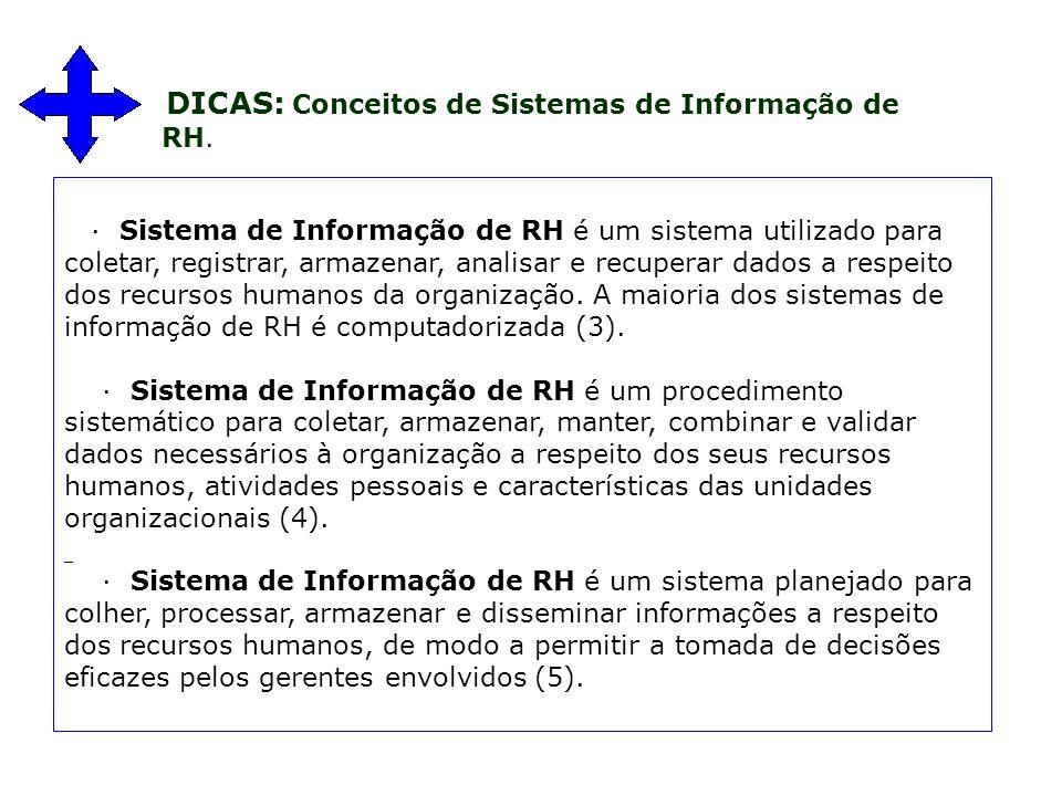 DICAS: Conceitos de Sistemas de Informação de RH.