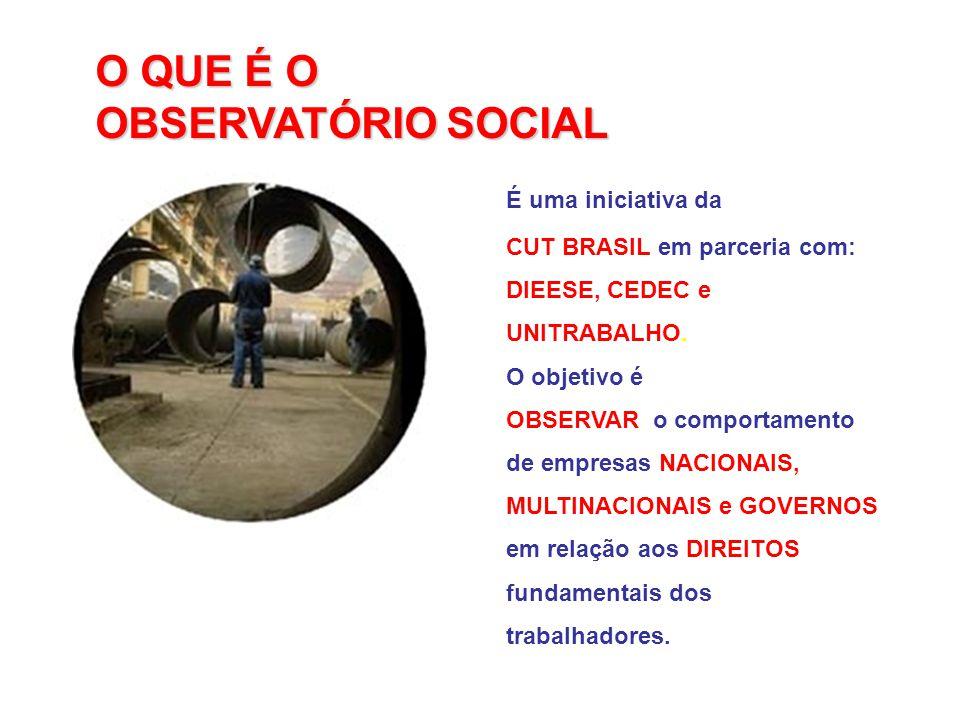 O QUE É O OBSERVATÓRIO SOCIAL É uma iniciativa da