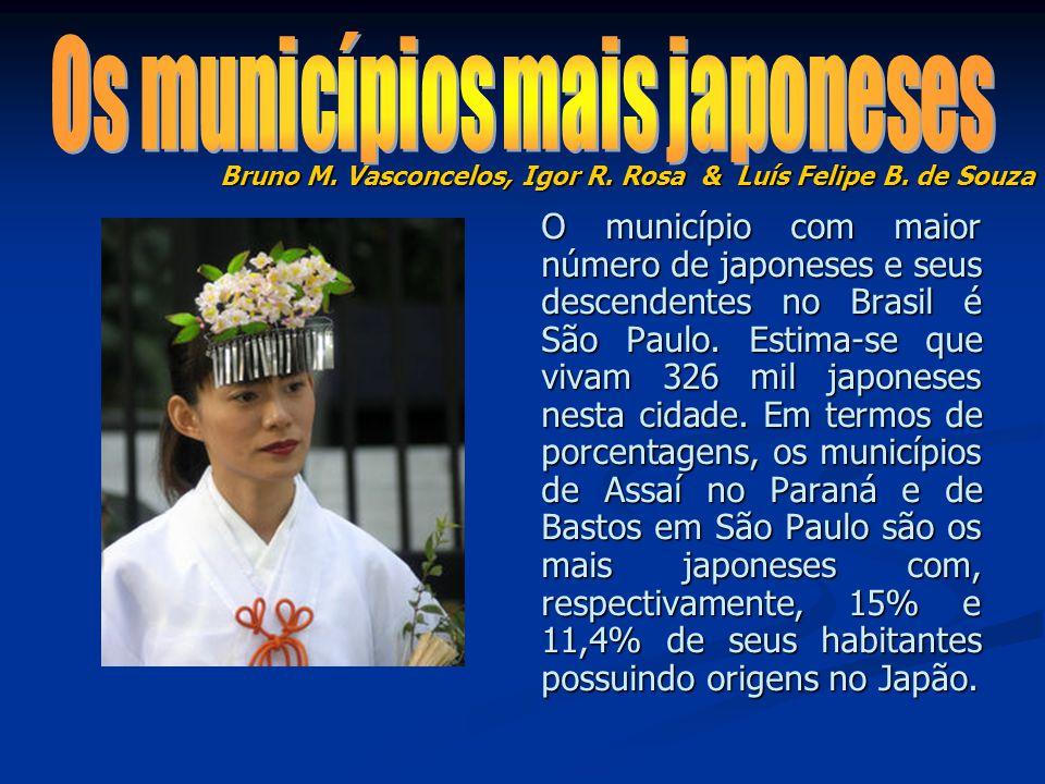 Os municípios mais japoneses