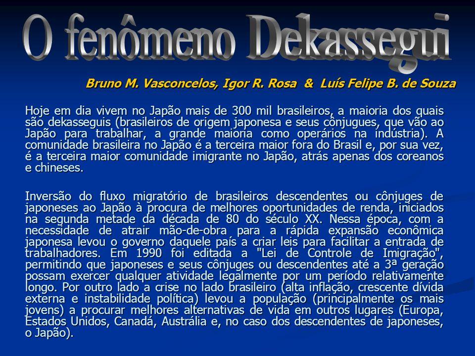 O fenômeno Dekassegui Bruno M. Vasconcelos, Igor R. Rosa & Luís Felipe B. de Souza.