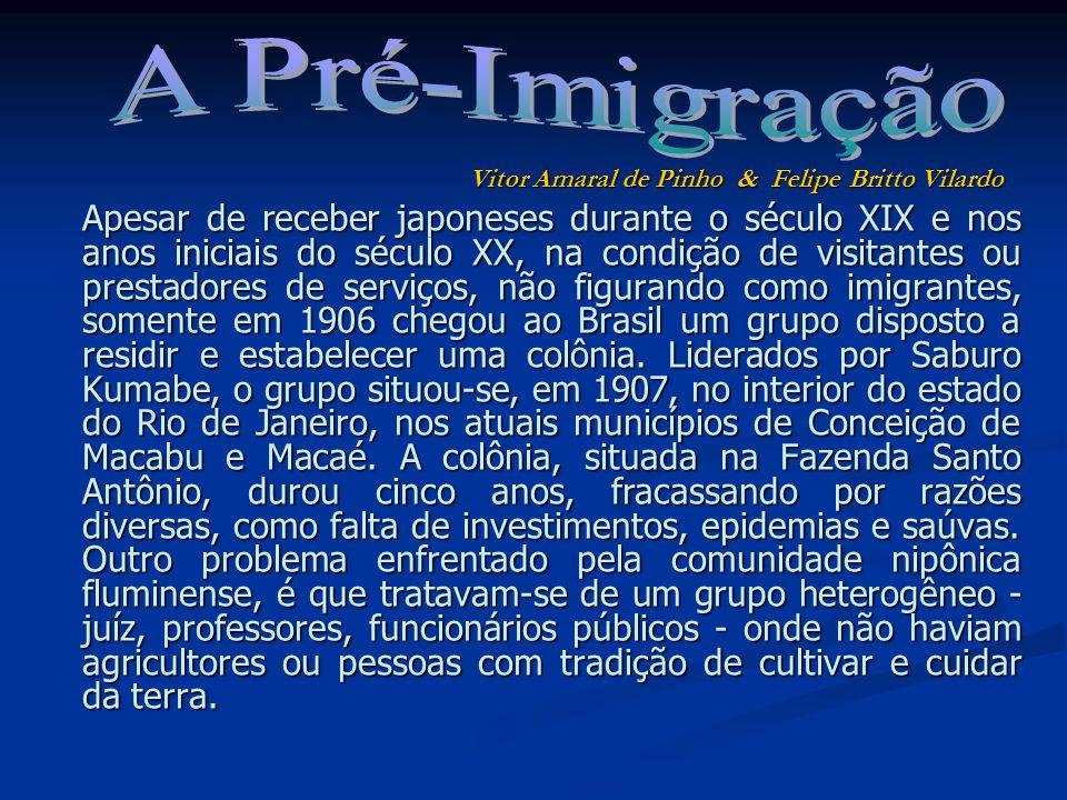 A Pré-Imigração Vitor Amaral de Pinho & Felipe Britto Vilardo.