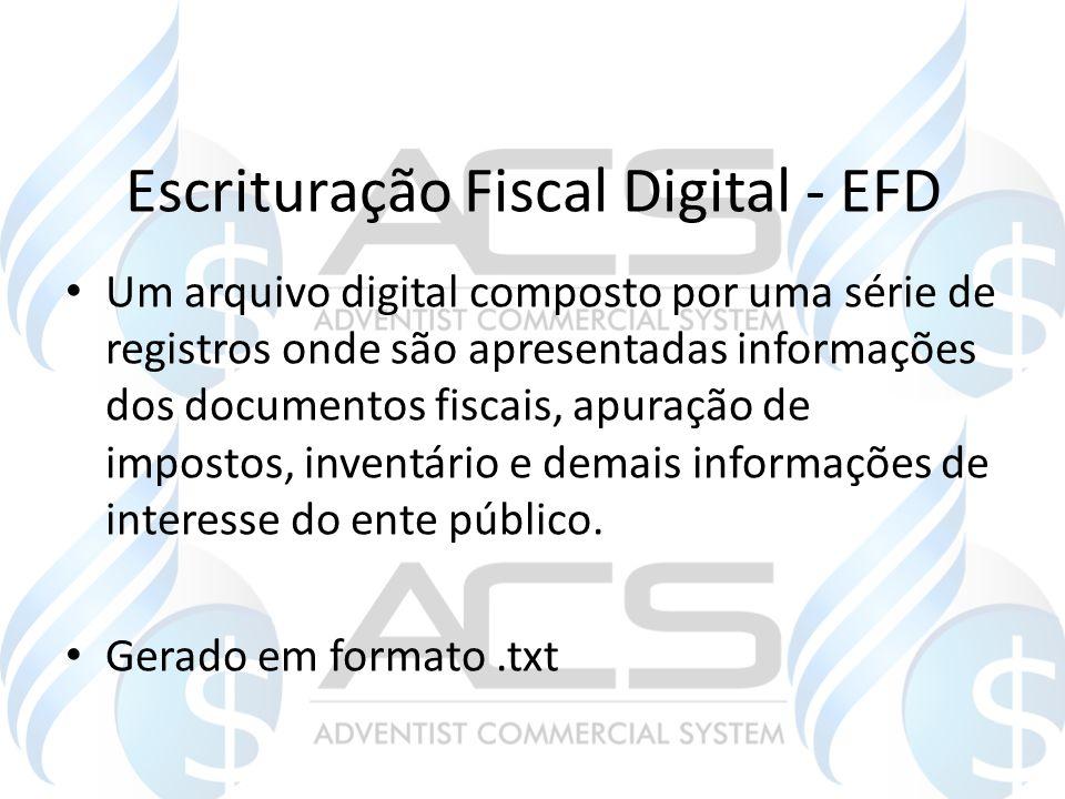 Escrituração Fiscal Digital - EFD
