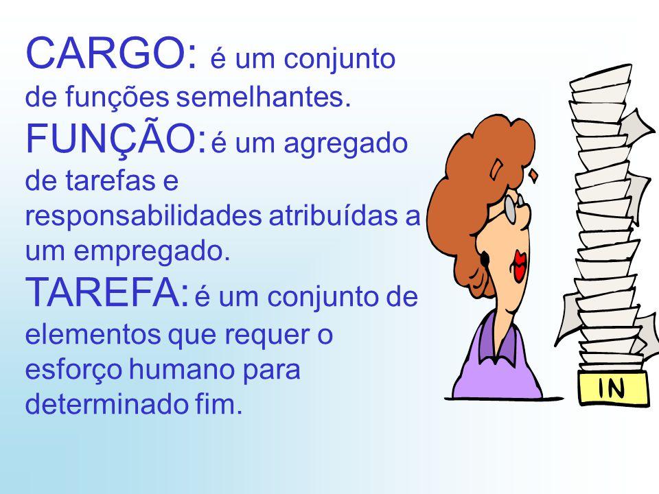 CARGO: é um conjunto de funções semelhantes.