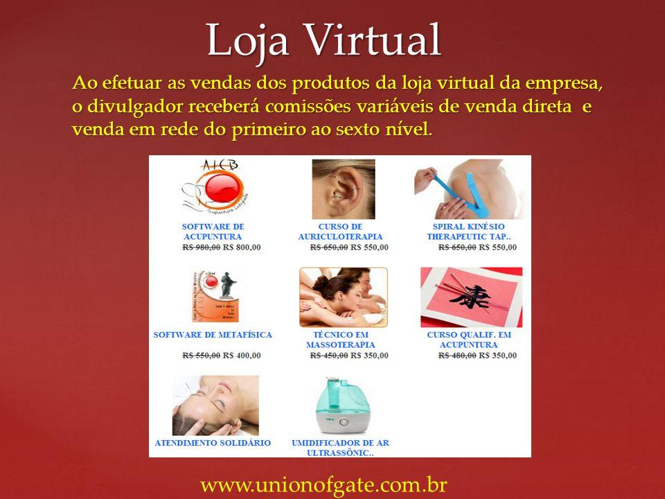 Loja Virtual www.unionofgate.com.br